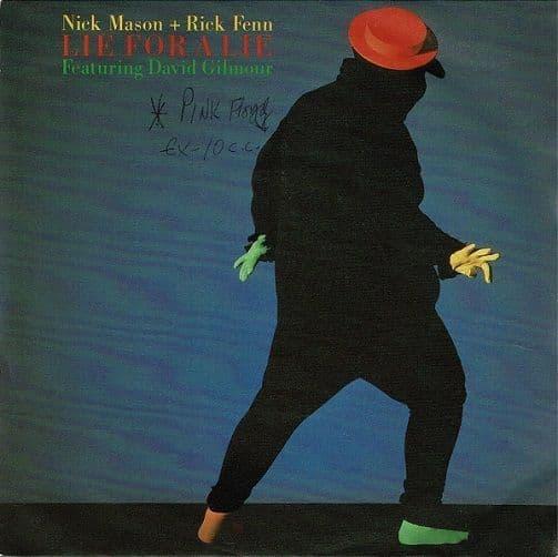 NICK MASON + RICK FENN Lie For A Lie Vinyl Record 7 Inch Harvest 1985