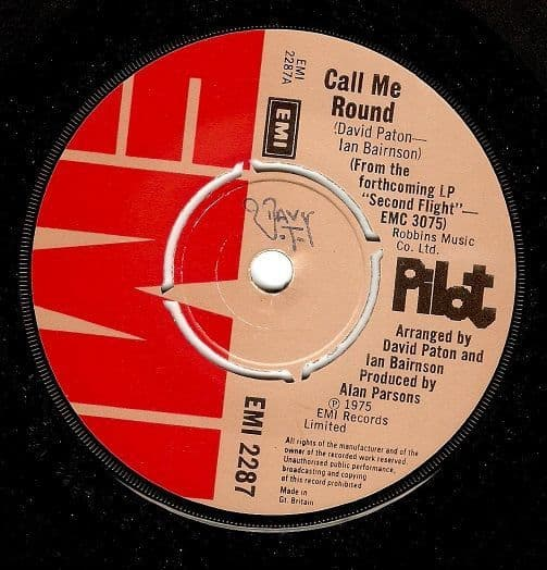 PILOT Call Me Round Vinyl Record 7 Inch EMI 1975
