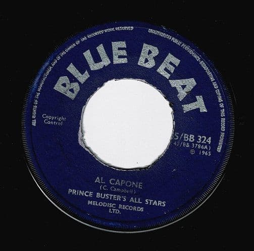 PRINCE BUSTER'S ALL STARS Al Capone Vinyl Record 7 Inch Blue Beat 1965