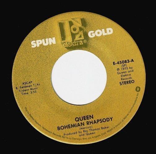 QUEEN Bohemian Rhapsody Vinyl Record 7 Inch US Elektra 1983