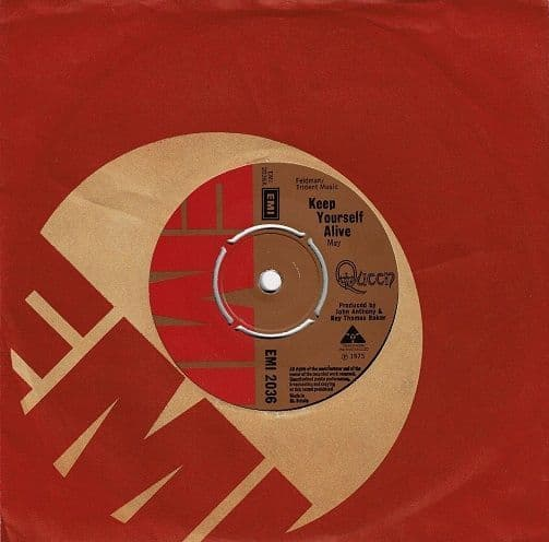 QUEEN Keep Yourself Alive Vinyl Record 7 Inch EMI 1973