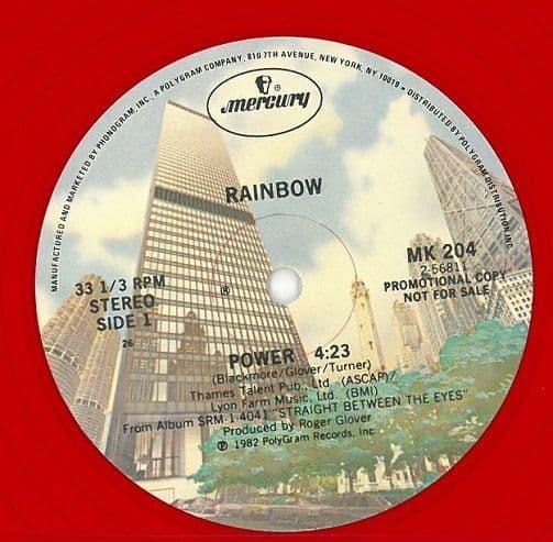 RAINBOW Power Vinyl Record 12 Inch US Mercury 1982 Red Vinyl Promo