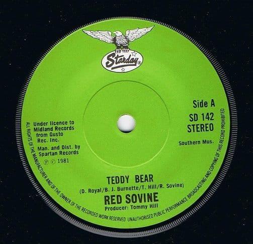 RED SOVINE Teddy Bear Vinyl Record 7 Inch Starday 1981