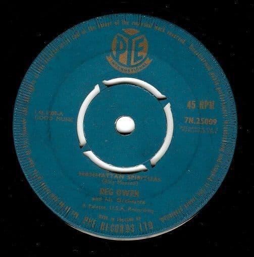 REG OWEN Manhattan Spiritual Vinyl Record 7 Inch Pye 1958