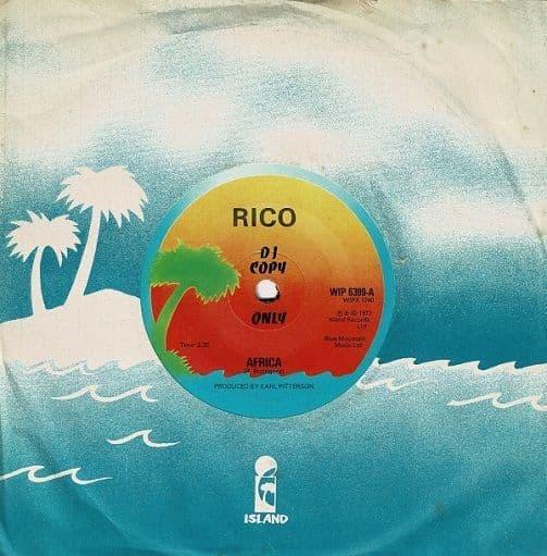 RICO RODRIGUEZ Africa Vinyl Record 7 Inch Island 1977 Promo