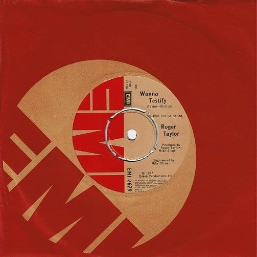 ROGER TAYLOR I Wanna Testify Vinyl Record 7 Inch EMI 1977