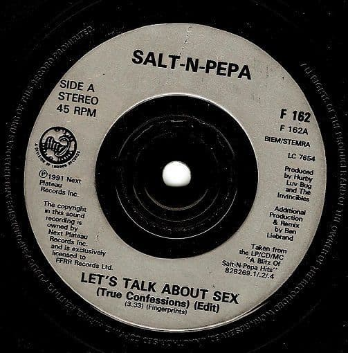 SALT-N-PEPA Let's Talk About Sex Vinyl Record 7 Inch FFRR 1991