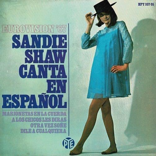 SANDIE SHAW Canta En Espanol - Eurovision '67 EP Vinyl Record 7 Inch Pye 1967