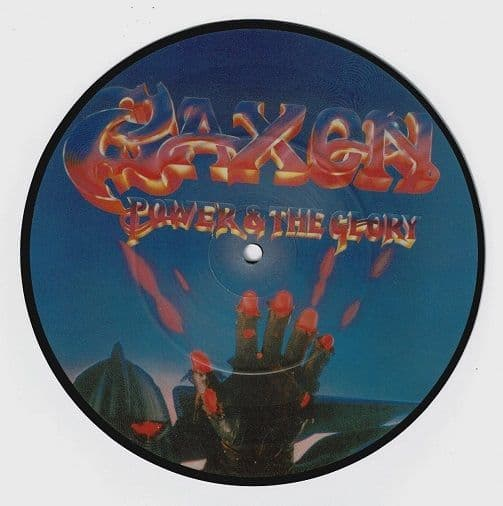 SAXON Power & The Glory Vinyl Record 7 Inch Carrere 1983 Picture Disc