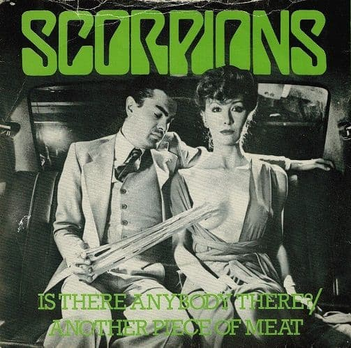 SCORPIONS Is There Anybody There Vinyl Record 7 Inch Harvest 1979 Green Vinyl.