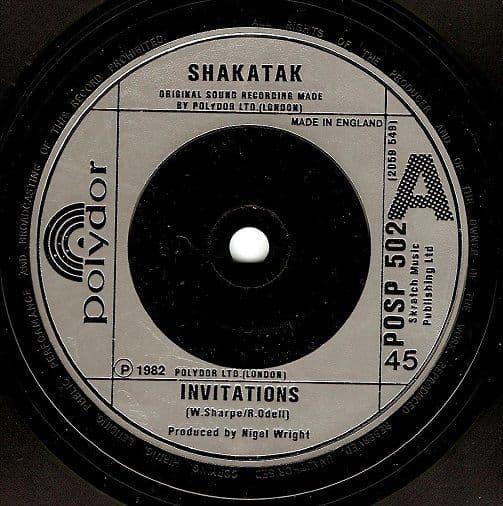 SHAKATAK Invitations Vinyl Record 7 Inch Polydor 1982