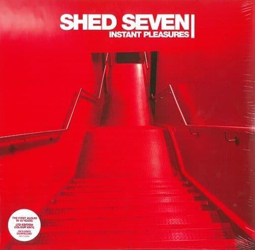 SHED SEVEN Instant Pleasures Vinyl Record LP Infectious 2017 Red Vinyl