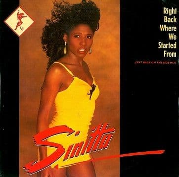 "SINITTA Right Back Where We Started From 12"" Single Vinyl Record Fanfare 1989"