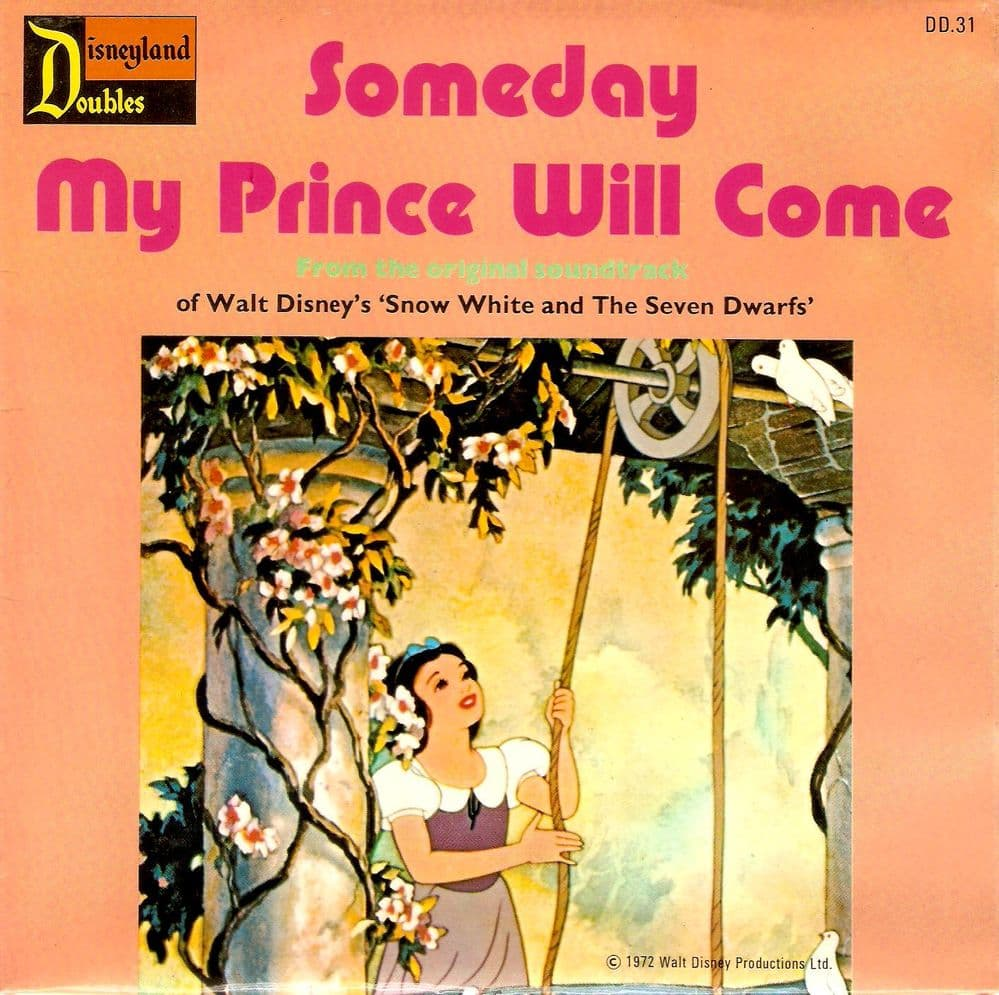 Someday My Prince Will Come Vinyl Record 7 Inch Disneyland Doubles 1972