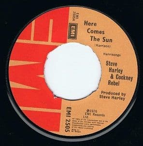 "STEVE HARLEY & COCKNEY REBEL Here Comes The Sun 7"" Single Vinyl Record 45rpm EMI 1976"