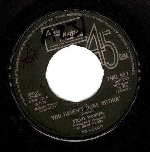 STEVIE WONDER You Haven't Done Nothin' Vinyl Record 7 Inch Tamla Motown 1974