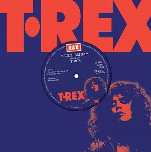T.REX Telegram Sam Vinyl Record 7 Inch Easy Action 2019 Blue Vinyl