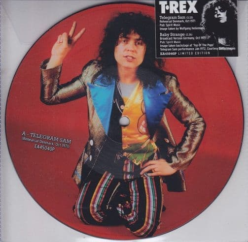 T.REX Telegram Sam Vinyl Record 7 Inch Easy Action 2019 Picture Disc