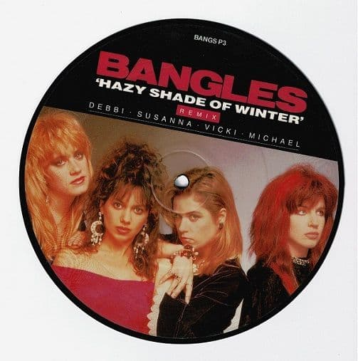 THE BANGLES Hazy Shade Of Winter Vinyl Record 7 Inch CBS 1987 Picture Disc