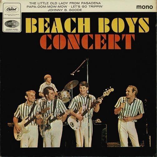 THE BEACH BOYS Beach Boys Concert EP Vinyl Record 7 Inch Capitol 1964