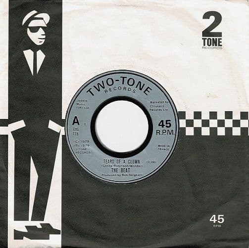 THE BEAT Tears Of A Clown Vinyl Record 7 Inch French 2 Tone 1979