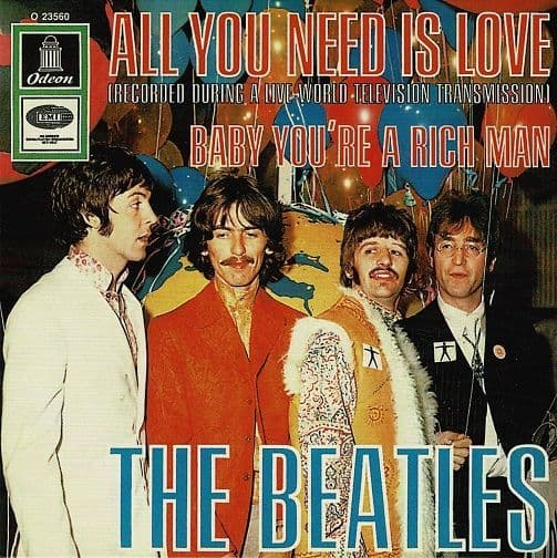 THE BEATLES All You Need Is Love Vinyl Record 7 Inch Odeon 2019