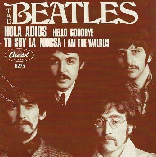 THE BEATLES Hello, Goodbye Vinyl Record 7 Inch Capitol 2019.