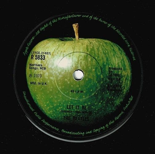 THE BEATLES Let It Be Vinyl Record 7 Inch Apple 1970.