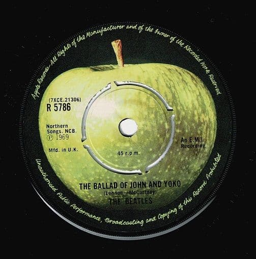 THE BEATLES The Ballad Of John And Yoko Vinyl Record 7 Inch Apple