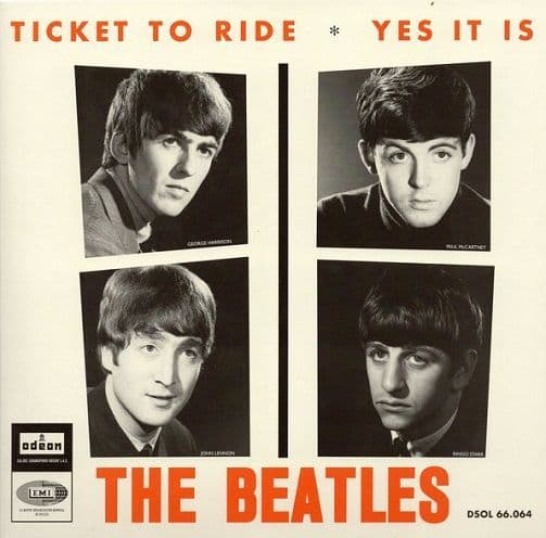 THE BEATLES Ticket To Ride Vinyl Record 7 Inch Odeon 2019