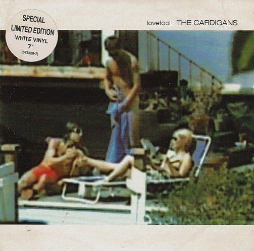 THE CARDIGANS Lovefool Vinyl Record 7 Inch Stockholm 1996 White Vinyl