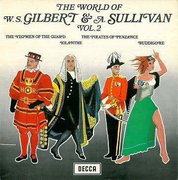 THE D'OYLY CARTE OPERA COMPANY The World Of W. S. Gilbert & A. Sullivan Vol. 2 LP Record Decca 1969