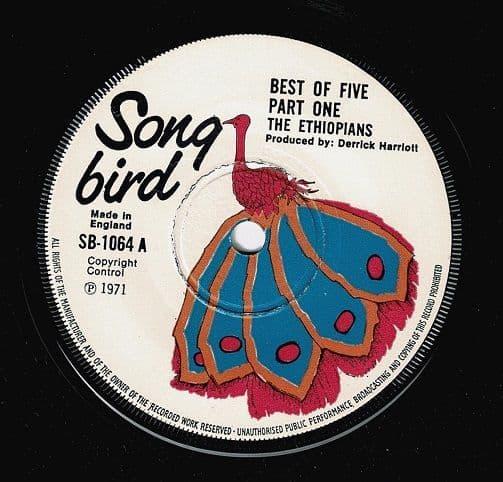 THE ETHIOPIANS Best Of Five Part One Vinyl Record 7 Inch Song Bird 1971