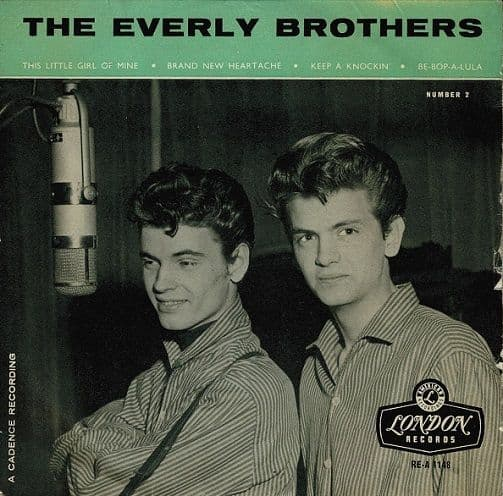 THE EVERLY BROTHERS The Everly Brothers No. 2 EP Vinyl Record 7 Inch London 1958