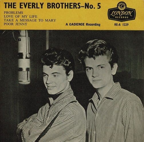 THE EVERLY BROTHERS The Everly Brothers No. 5 EP Vinyl Record 7 Inch London 1960