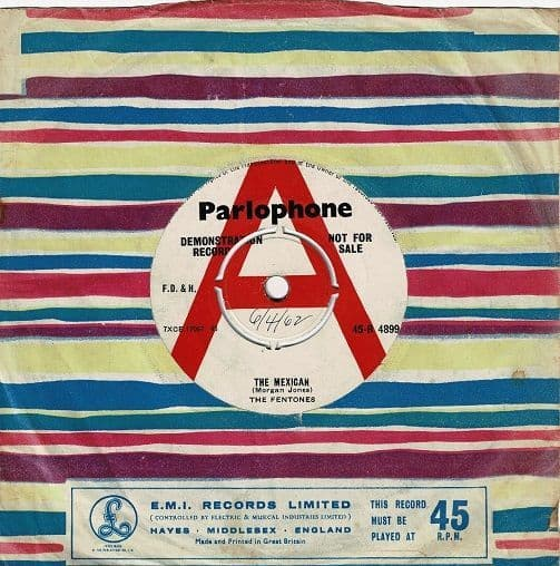 THE FENTONES The Mexican Vinyl Record 7 Inch Parlophone 1962 Demo