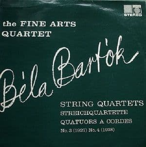 THE FINE ARTS QUARTET Bela Bartok Vinyl Record LP Saga 1962