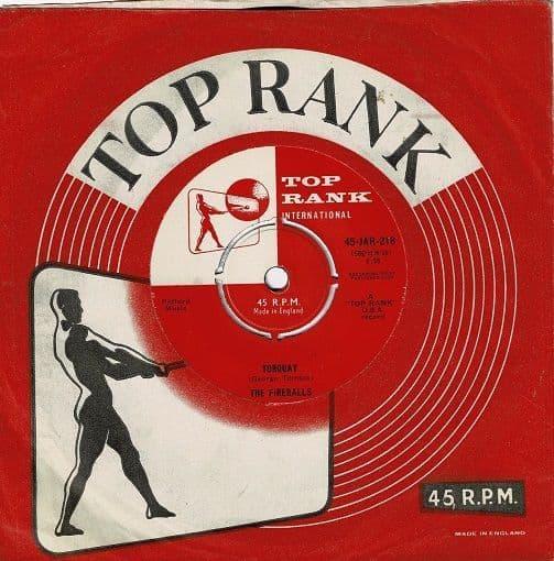 THE FIREBALLS Torquay Vinyl Record 7 Inch Top Rank 1959