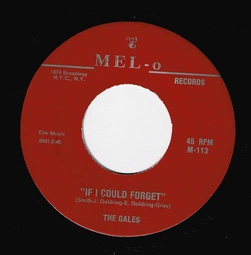 THE GALES If I Could Forget Vinyl Record 7 Inch US Mel-O
