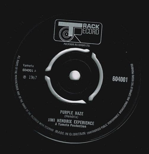 THE JIMI HENDRIX EXPERIENCE Purple Haze Vinyl Record 7 Inch Track 1967