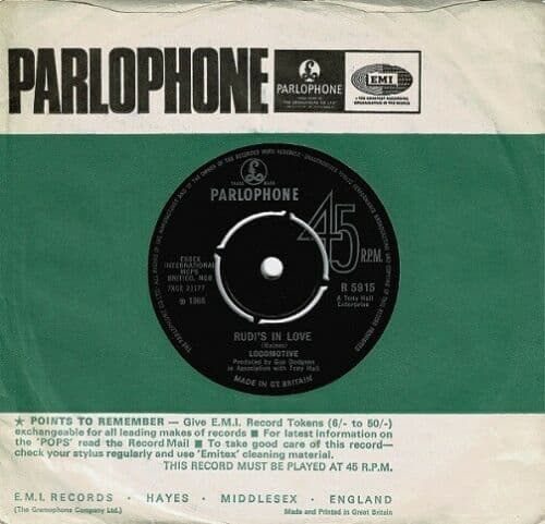 THE LOCOMOTIVE Rudi's In Love Vinyl Record 7 Inch Parlophone 1971