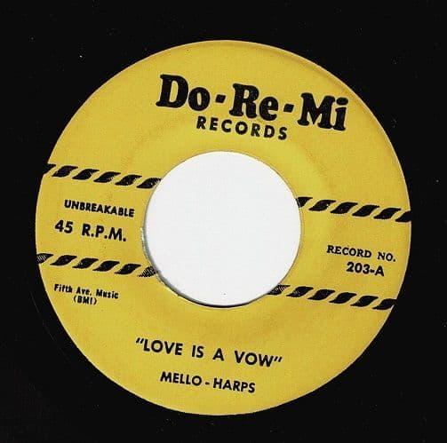 THE MELLO-HARPS (MELLOHARPS) Love Is A Vow Vinyl Record 7 Inch US Do-Re-Mi