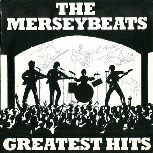 THE MERSEYBEATS Greatest Hits Vinyl Record LP Tudor 1977 Signed
