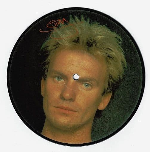 THE POLICE Wrapped Around Your Finger Vinyl Record 7 Inch A&M 1983 Picture Disc