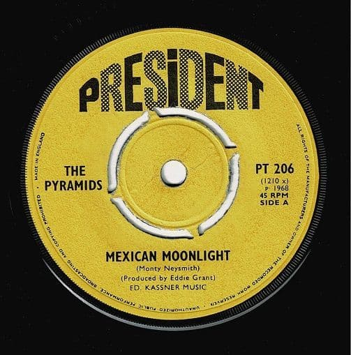 THE PYRAMIDS Mexican Moonlight Vinyl Record 7 Inch President 1968
