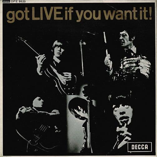 THE ROLLING STONES Got Live If You Want It EP Vinyl Record 7 Inch Decca 1972