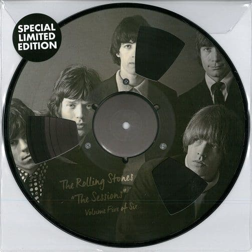 THE ROLLING STONES The Sessions Volume Five Vinyl Record 10 Inch Reel-To-Reel 2018 Picture Disc.