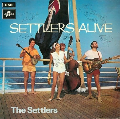 THE SETTLERS Settlers Alive Vinyl Record LP Columbia 1970 Signed