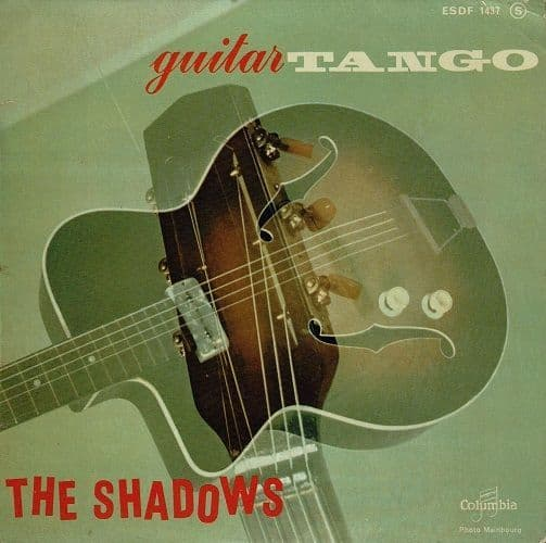 THE SHADOWS Guitar Tango EP Vinyl Record 7 Inch French Columbia 1962