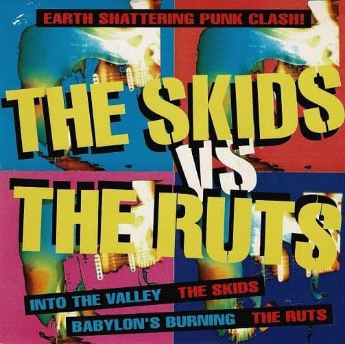 THE SKIDS The Skids Vs The Ruts Vinyl Record 7 Inch Virgin 1992